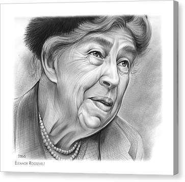 Eleanor Roosevelt Canvas Print by Greg Joens