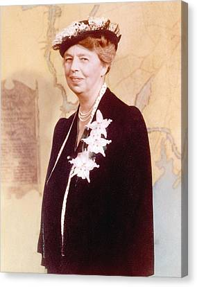 Eleanor Roosevelt. Hand Colored Canvas Print by Everett