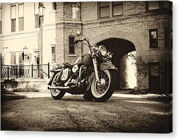 Electra Glide Canvas Print by  Nick Solovey