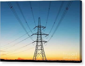 Electric Dawn Canvas Print by Tim Gainey