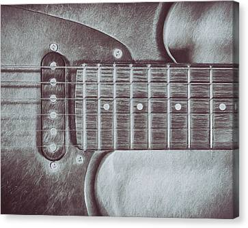 Electric Guitar Canvas Print by Scott Norris