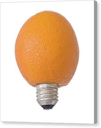 Electric Orange Canvas Print by Jim DeLillo