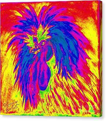 Electric Polish Hen Canvas Print by Summer Celeste