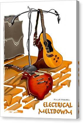 Electrical Meltdown Se Canvas Print by Mike McGlothlen