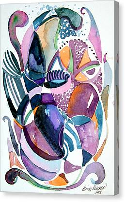 Elegant Lunacy Canvas Print by Mindy Newman