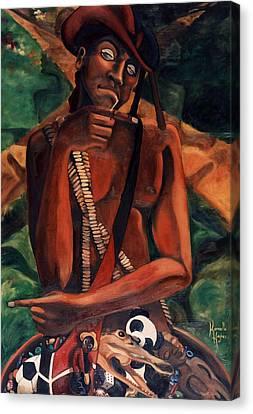 Elegba At The Crossroads Canvas Print by Karmella Haynes