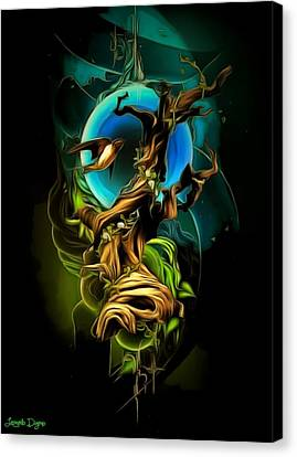 Dark Elements Canvas Print by Leonardo Digenio