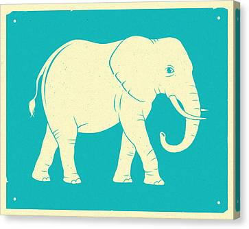 Elephant  Canvas Print by Jazzberry Blue