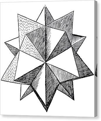 Elevated Solid Icosahedron  Canvas Print by Leonardo da Vinci