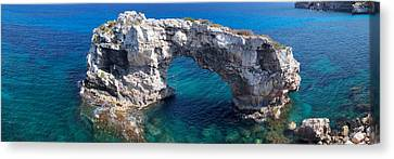 Elevated View Of The Es Pontas Natural Canvas Print by Panoramic Images