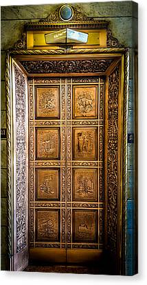 Elevator Masterpiece Canvas Print by Carlos Ruiz