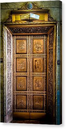 Elevator Masterpiece Canvas Print by Carlos Ruiz