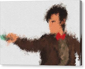 Eleventh Doctor Canvas Print by Miranda Sether