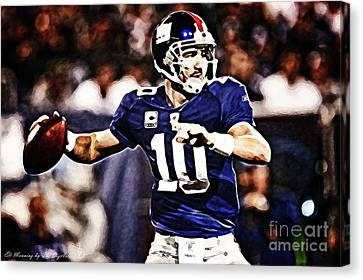 Eli Manning Canvas Print by The DigArtisT