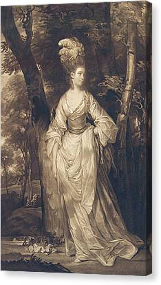 Elizabeth Duchess Of Hamilton Brandon And Argyll Canvas Print by John Finlayson