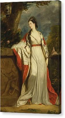 Elizabeth Gunning Duchess Of Hamilton And Argyll Canvas Print by Joshua Reynolds