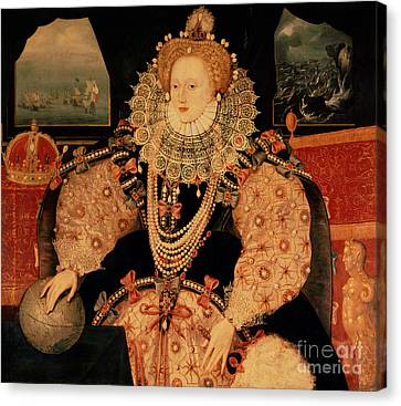 Elizabeth I Armada Portrait Canvas Print by English School