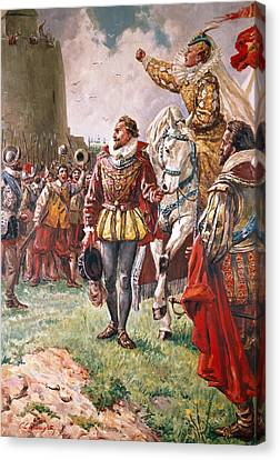 Elizabeth I The Warrior Queen Canvas Print by CL Doughty