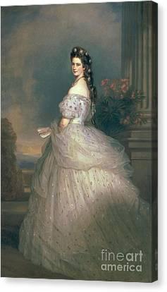 Elizabeth Of Bavaria Canvas Print by Franz Xavier Winterhalter