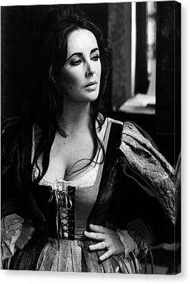 Elizabeth Taylor In The Taming Of The Shrew Canvas Print by Unknown