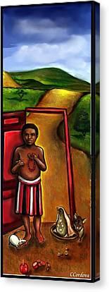 Elegua -guardian Of Crossroads Canvas Print by Carmen Cordova