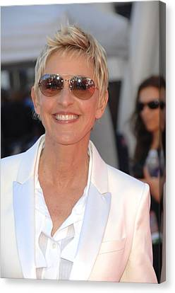 Ellen Degeneres In Attendance Canvas Print by Everett