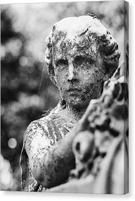 Elmwood Cemetery - Cassie Hill Bw Canvas Print by Jon Woodhams