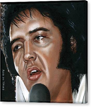 Elvis 24 1975 Canvas Print by Rob De Vries