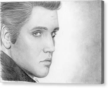 Elvis Canvas Print by Bitten Kari