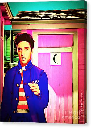 Elvis Has Left The House 20151225 Canvas Print by Wingsdomain Art and Photography