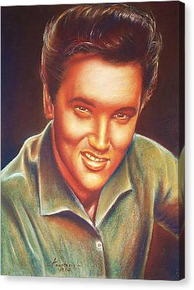 Elvis In Color Canvas Print by Anastasis  Anastasi