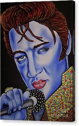 Elvis Canvas Print by Nannette Harris