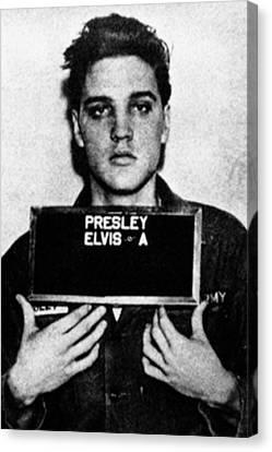 Elvis Presley Mug Shot Vertical 1 Canvas Print by Tony Rubino