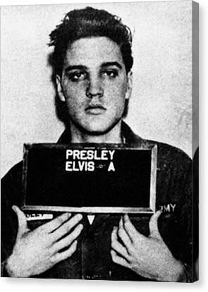 Elvis Presley Mug Shot Vertical 1 Wide 16 By 20 Canvas Print by Tony Rubino