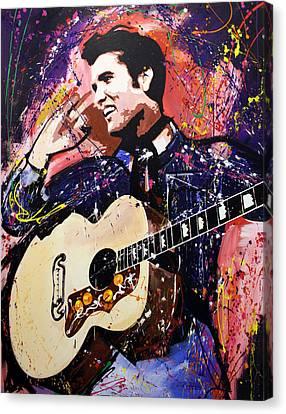 Elvis Presley Canvas Print by Richard Day