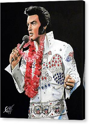Elvis Canvas Print by Tom Carlton