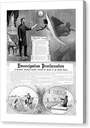 Emancipation Proclamation Canvas Print by War Is Hell Store