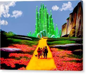 Emerald City Canvas Print by Tom Zukauskas