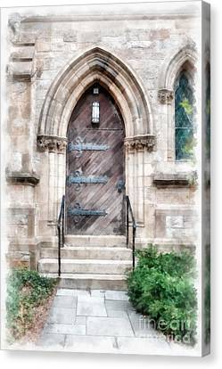 Emmanuel Church Newbury Street Boston Ma Canvas Print by Edward Fielding