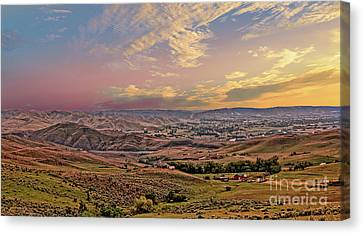 Emmett Valley From Squaw Butte Canvas Print by Robert Bales