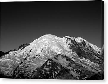 Emmons And Winthrope Glaciers On Mount Rainier Canvas Print by Brendan Reals