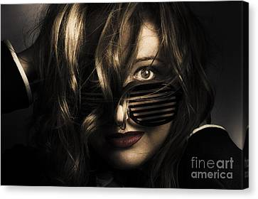 Emotive Headshot On A Fashionable Female Model Canvas Print by Jorgo Photography - Wall Art Gallery