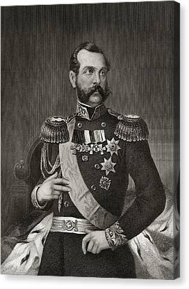 Emperor Alexander 2nd Of Russia 1818 To Canvas Print by Vintage Design Pics