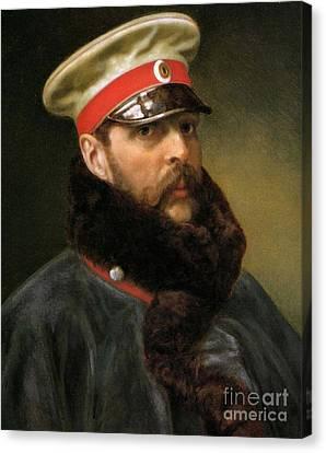 Emperor Alexander II Canvas Print by Russian School