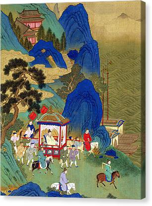 Emperor Chin Wang Ti Canvas Print by Chinese School