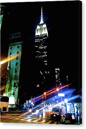 Empire At Night Canvas Print by Funk