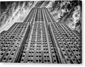 Empire State Building Black And White Canvas Print by John Farnan