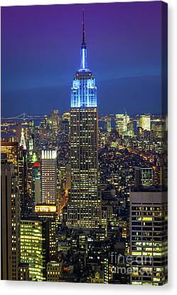 Empire State Building Canvas Print by Inge Johnsson