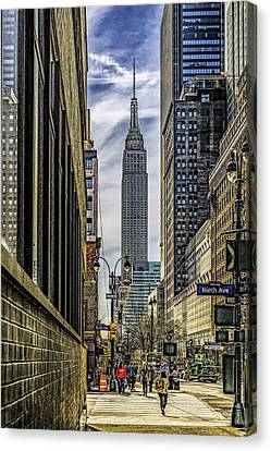 Empire State Building Canvas Print by Nick Zelinsky