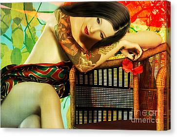 Empty Chair  Canvas Print by Shanina Conway